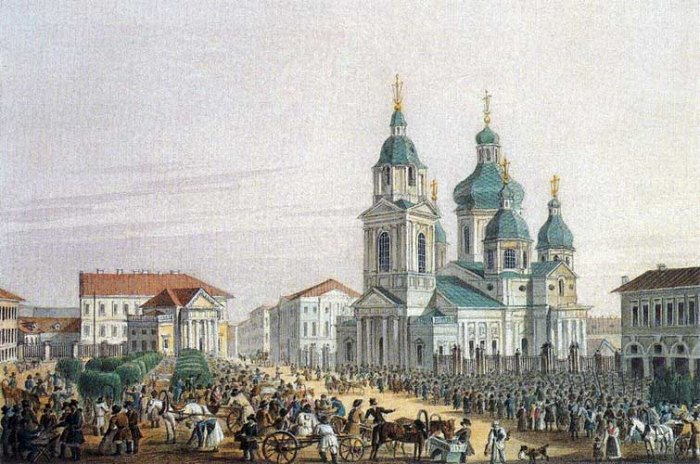 A scene from St. Petersburg