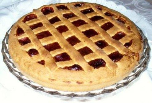 Рецепт пирога с вареньем из дрожжевого теста